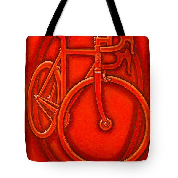 Bespoked In Orange  Tote Bag