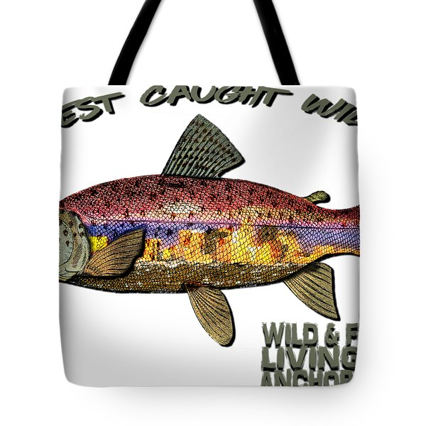 Fishing - Best Caught Wild - On Light No Hat Tote Bag