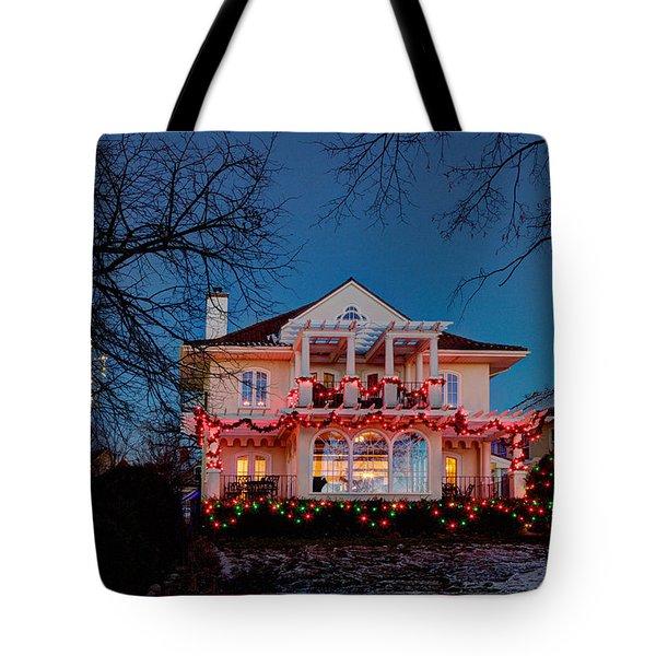 Best Christmas Lights Lake Of The Isles Minneapolis Tote Bag