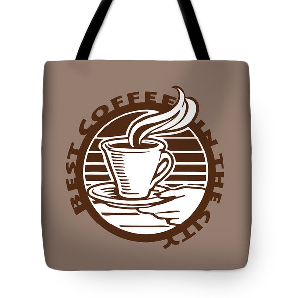 Tote Bag featuring the digital art Best Coffee In The City by Jennifer Hotai