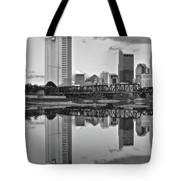 Tote Bag featuring the photograph Best Columbus Black And White by Frozen in Time Fine Art Photography
