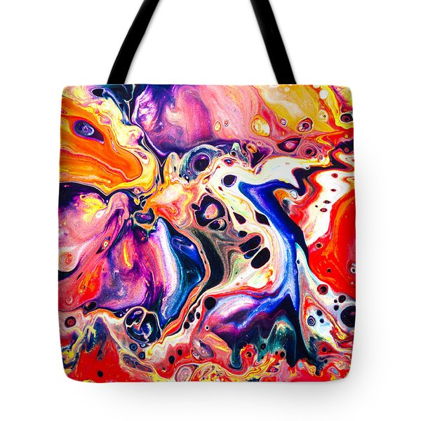 Best Friends  - Abstract Colorful Mixed Media Painting Tote Bag