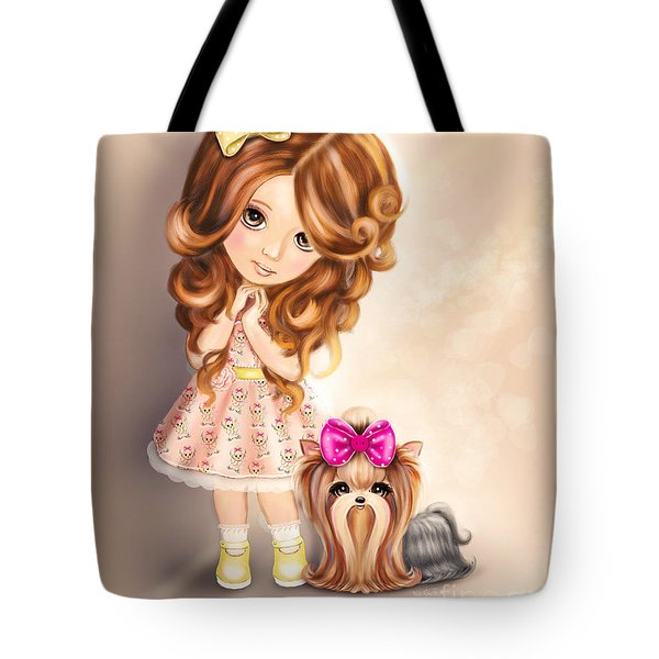 Tote Bag featuring the painting Best Friends Forever by Catia Lee