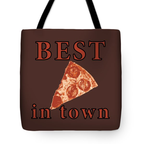 Tote Bag featuring the digital art Best Pizza In Town by Jennifer Hotai