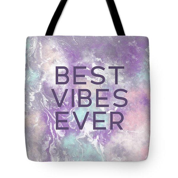 Best Vibes Ever Purple- Art By Linda Woods Tote Bag