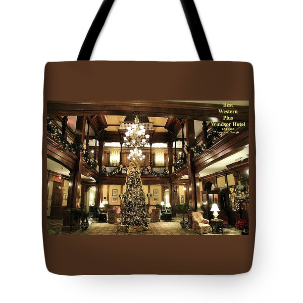 Best Western Plus Windsor Hotel Lobby - Christmas Tote Bag
