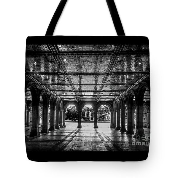 Bethesda Terrace Arcade 2 - Bw Tote Bag