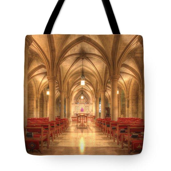 Bethlehem Chapel Washington National Cathedral Tote Bag by Shelley Neff