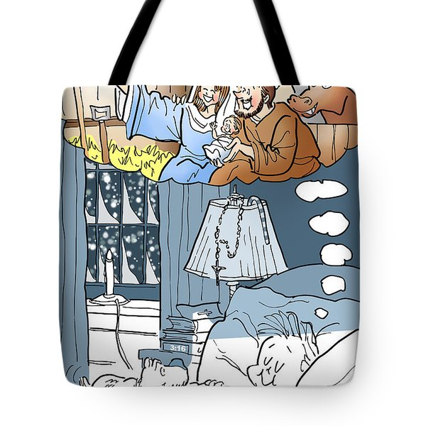 Nativity Selfie Tote Bag