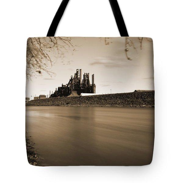 Bethlehem Steel Along The Lehigh Tote Bag