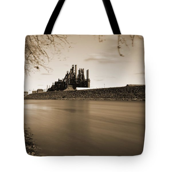 Bethlehem Steel Along The Lehigh Tote Bag