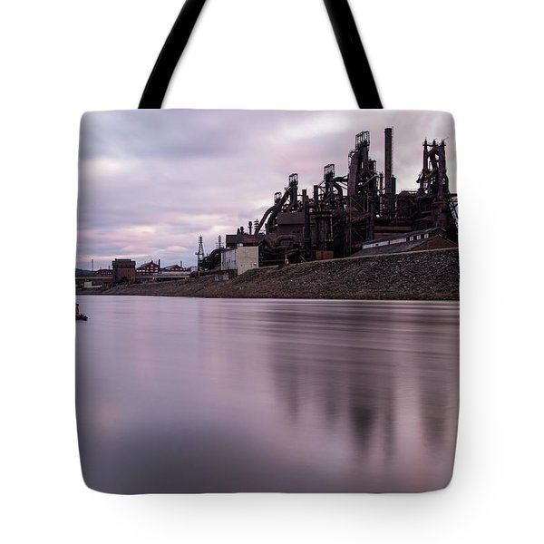 Bethlehem Steel Sunset Tote Bag