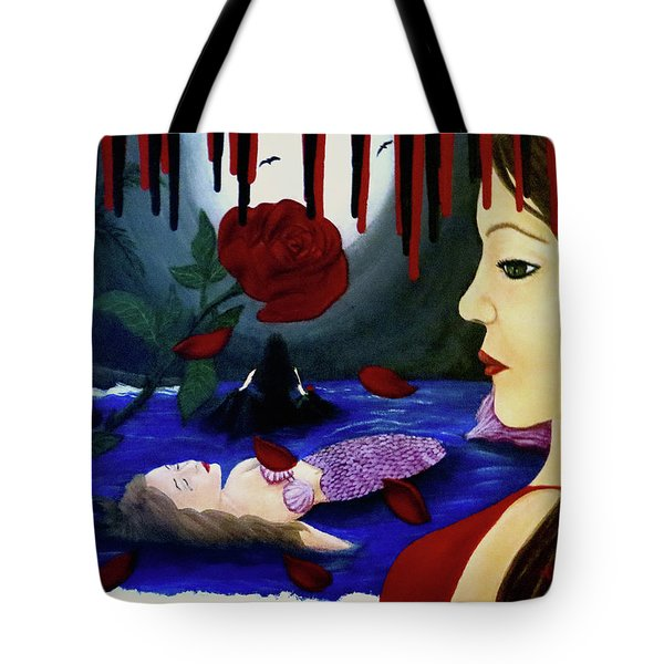 Tote Bag featuring the painting Betrayal by Teresa Wing