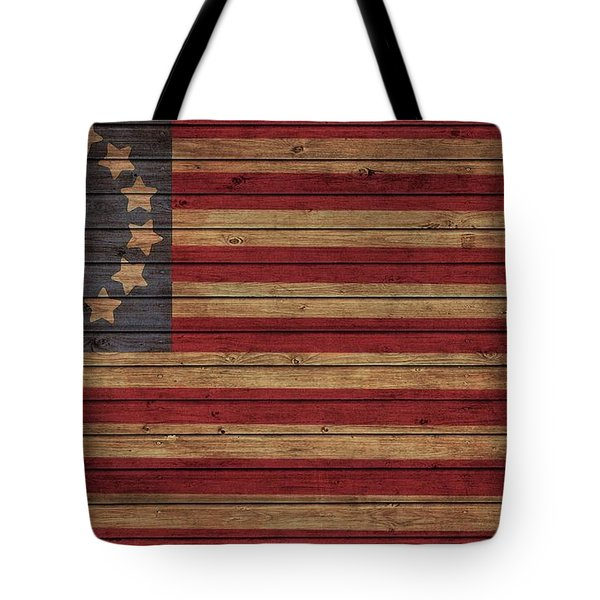 Betsy Ross American Flag Barn Tote Bag by Dan Sproul