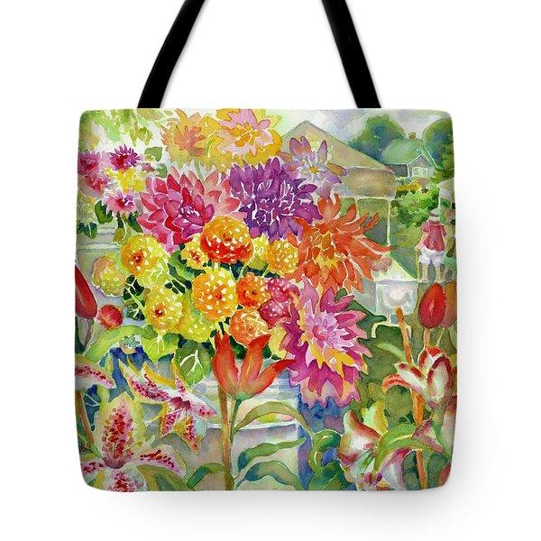 Betsy's Dahlias II Tote Bag