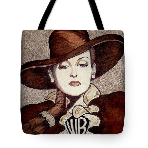 Bette Davis The Warner Brothers Years Tote Bag