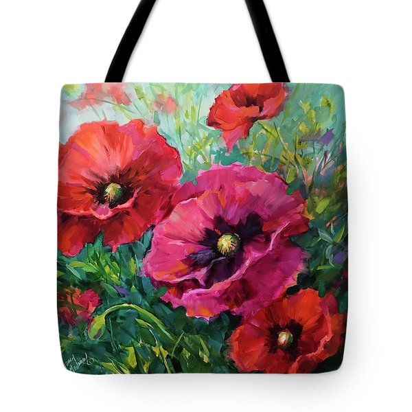 Better Together Poppies Tote Bag