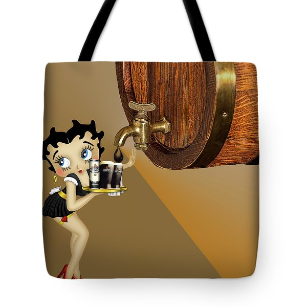 Tote Bag featuring the photograph Betty Boop Serving Murphys by Ericamaxine Price