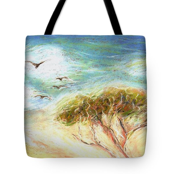 Tote Bag featuring the drawing Betty's Tree by Denise Fulmer