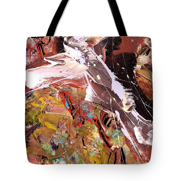 Between Black And White Abstract Tote Bag