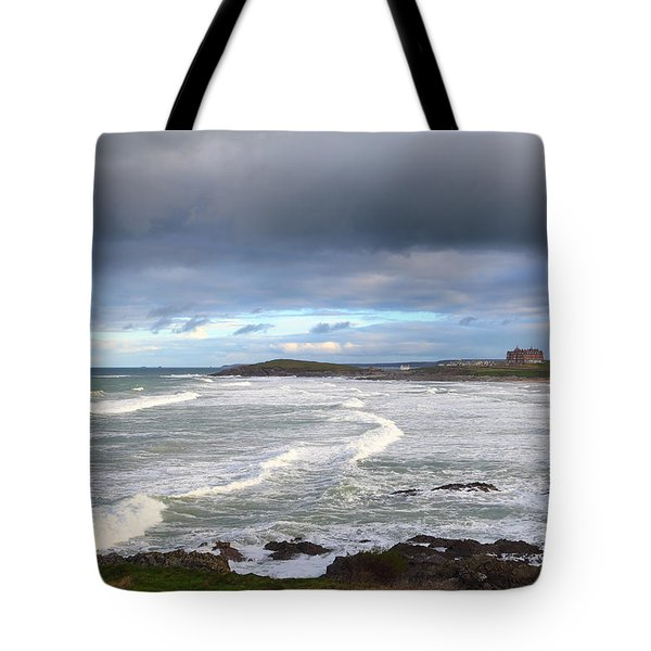 Tote Bag featuring the photograph Between Cornish Storms 1 by Nicholas Burningham