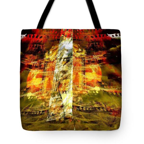 Tote Bag featuring the digital art Between Film Frames by Art Di