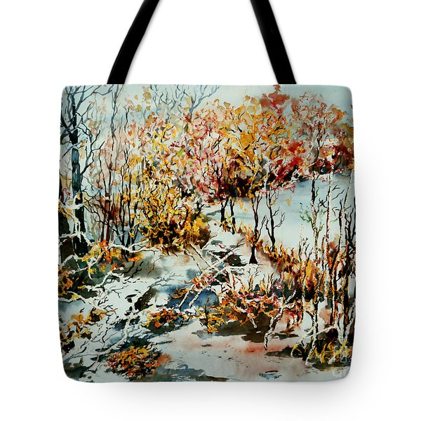 Between Frozen Waters Tote Bag