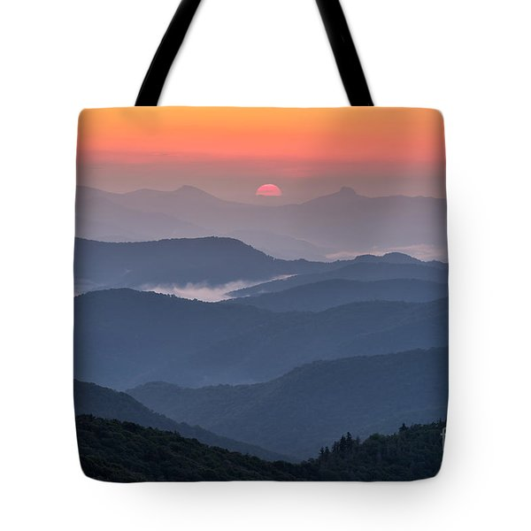 Between Hawksbill And Table Rock Tote Bag by Anthony Heflin