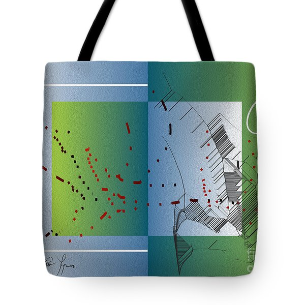 Tote Bag featuring the digital art Between Heaven And Me by Leo Symon
