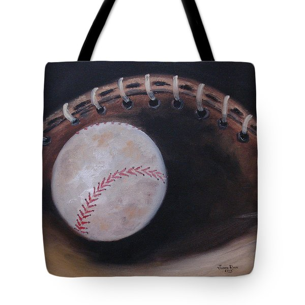 Between Innings Tote Bag by Judith Rhue