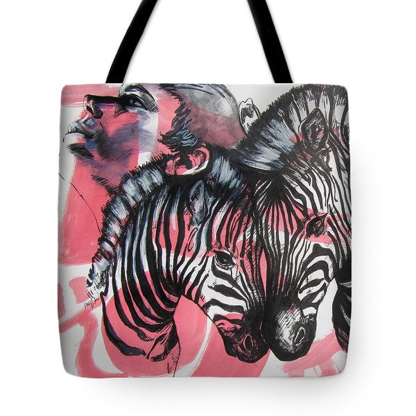 Between Stripes Tote Bag