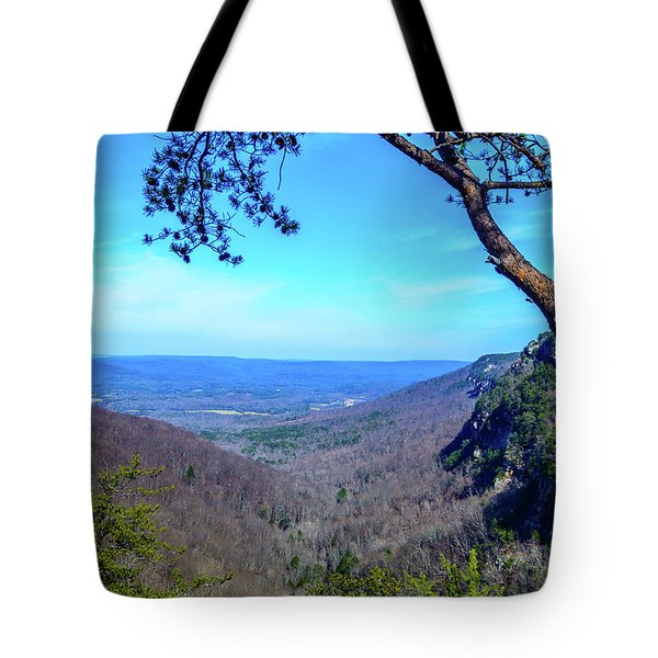 Between The Cliffs Tote Bag