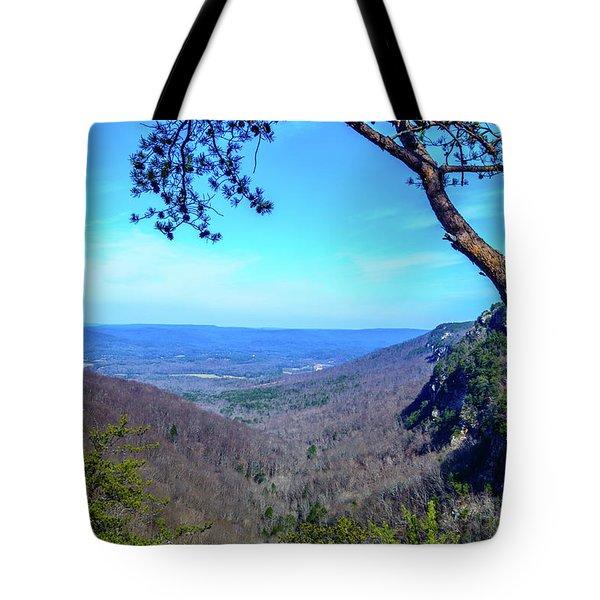 Between The Cliffs Tote Bag