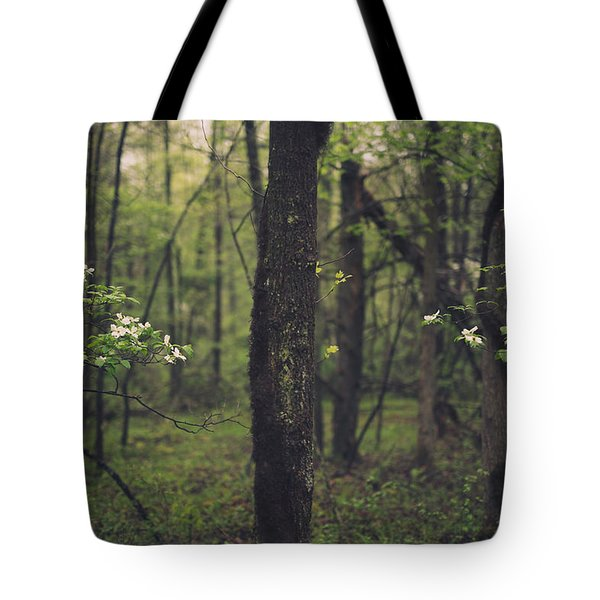 Tote Bag featuring the photograph Between The Dogwoods by Shane Holsclaw
