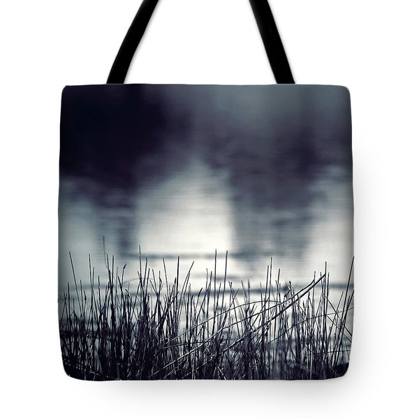 Tote Bag featuring the photograph Between The Waters by Trish Mistric