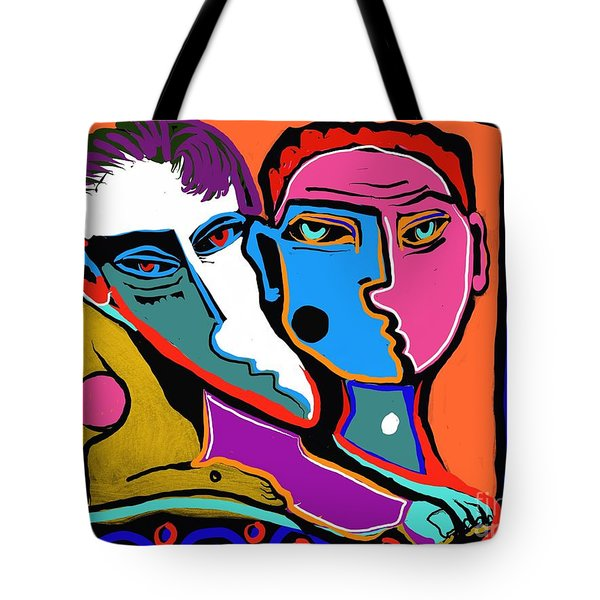 Between Two Brothers Tote Bag