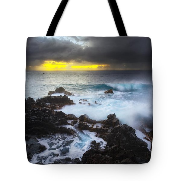 Tote Bag featuring the photograph Between Two Storms by Ryan Manuel