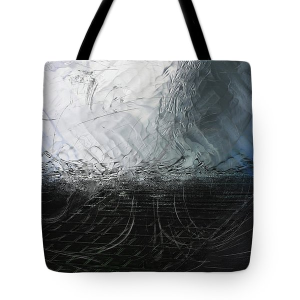 Tote Bag featuring the digital art Between Us, This Melancholy Sea by Wendy J St Christopher