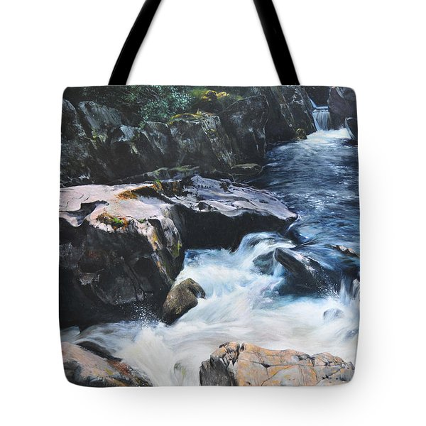 Betws-y-coed Waterfall Tote Bag