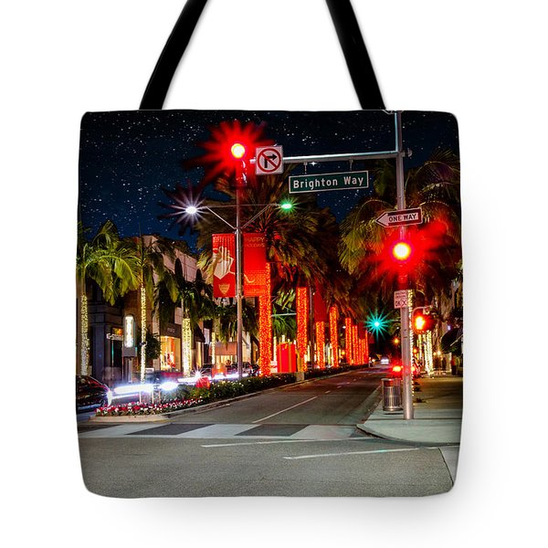 Beverly Hill Stars Tote Bag by Robert Hebert