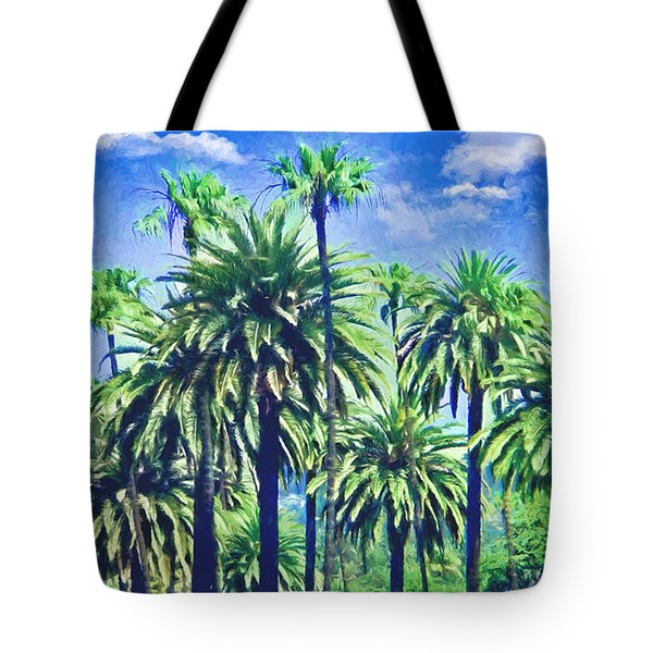 Beverly Hills Palms Tote Bag