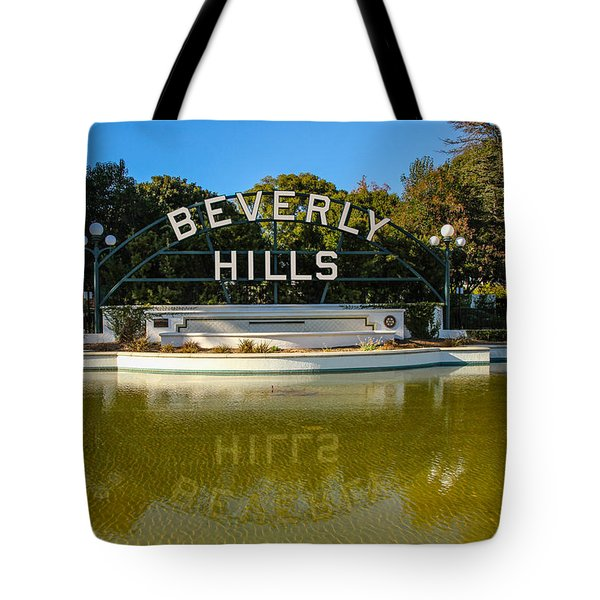 Tote Bag featuring the photograph Beverly Hills Sign by Robert Hebert