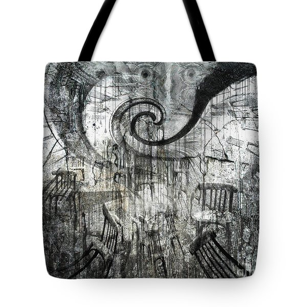 Tote Bag featuring the digital art Beware Of Darkness by Rhonda Strickland