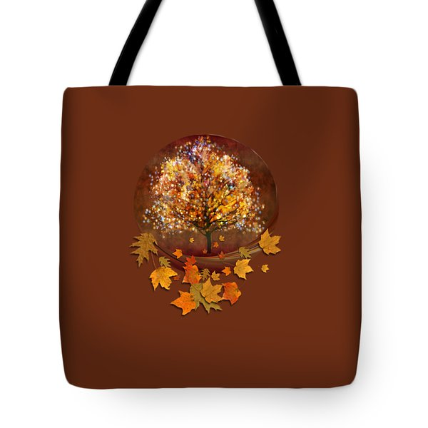 Tote Bag featuring the digital art Starry Tree by Valerie Anne Kelly