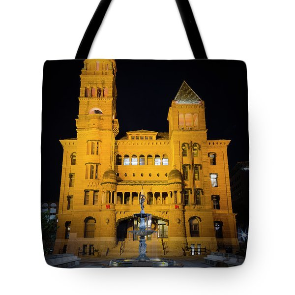 Bexar County Courthouse Illumination Tote Bag