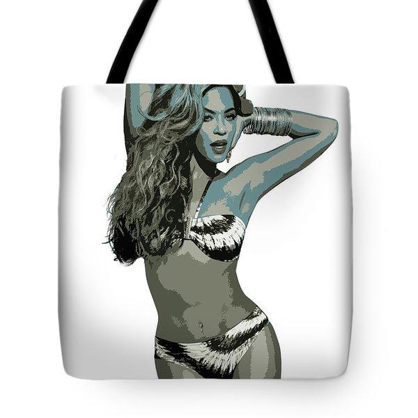 Beyonce Cutout Art Tote Bag