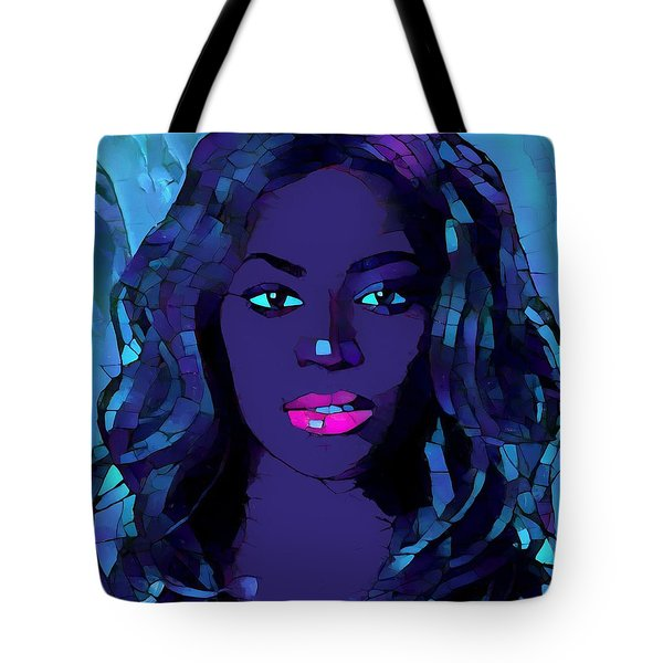 Beyonce Graphic Abstract Tote Bag by Dan Sproul