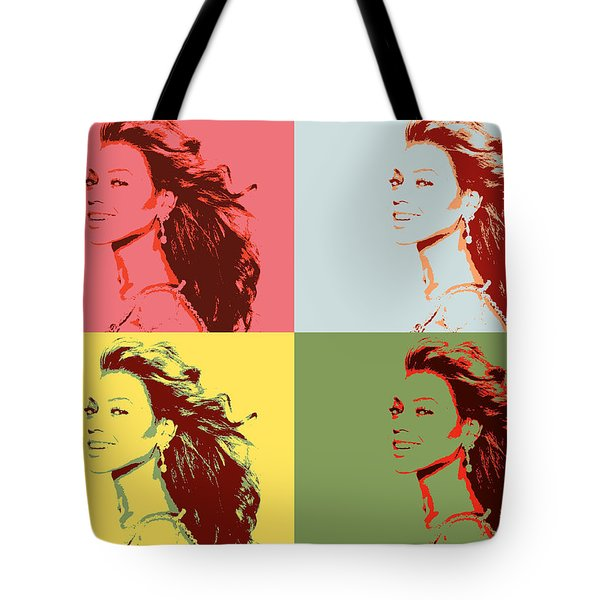 Beyonce Pop Art Panels Tote Bag