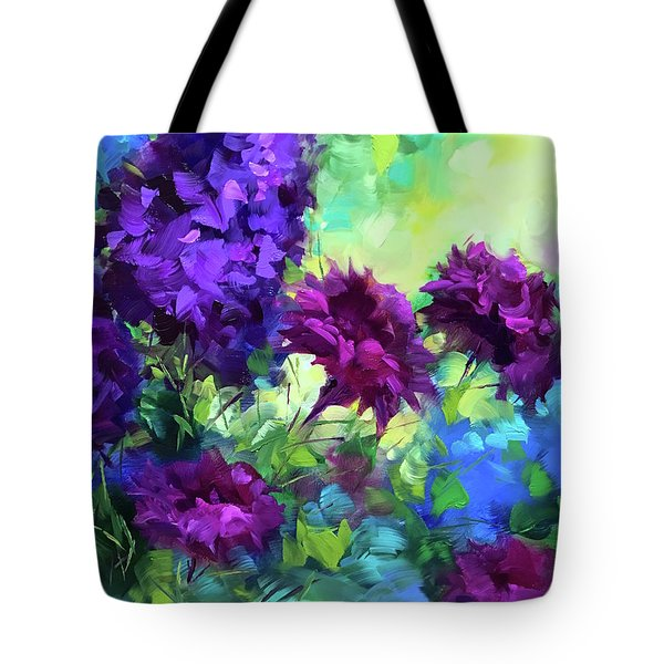 Beyond Sunset Ruby Carnations Tote Bag