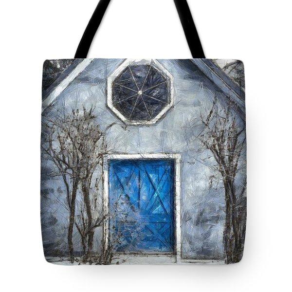 Beyond The Blue Door Pencil Tote Bag